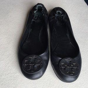 "Tory Burch ""Minnie"" leather ballet flats sz 8.5"